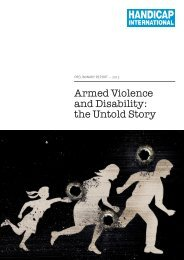 Armed Violence Report 2012 - Handicap International Canada