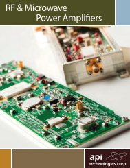 RF & Microwave Power Amplifiers - Spectrum Microwave by API ...