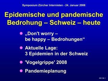 Grippepandemie - Vereinigung Zuercher Internisten