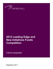 2012 LEF/NIF: Call for proposals - Canada Foundation for Innovation