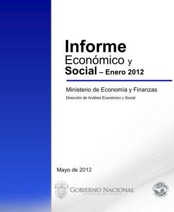 Informe Economico y Social - Enero 2012 - Ministerio de Economía ...