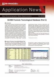 GC/MS Forensic Toxicological Database (Part 2) - Shimadzu