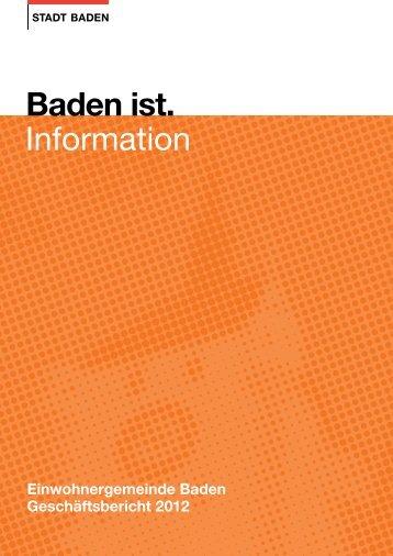 Geschäftsbericht 2012 - Stadt Baden