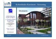 Kolorektales Karzinom : Screening Dickdarm - Tumorzentrum
