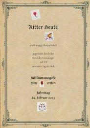 jubilaeumsausgabe - Ritter Heute - Die Merowinger