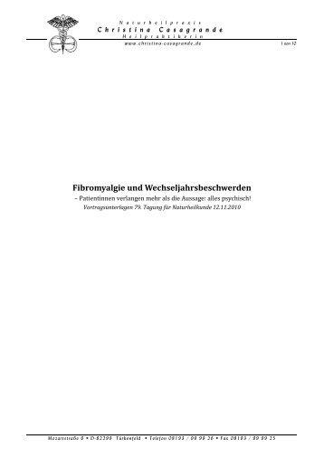 Fibromyalgie - Christina Casagrande
