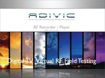 Digital TV Virtual RF Field Testing - Protel