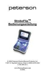 VS-F StroboFlip Virtual Strobe Tuner Instruction ... - Peterson Tuners