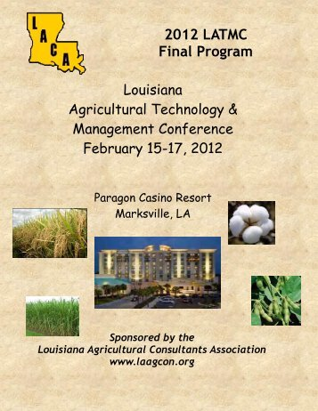 2012 LATMC Final Program - Louisiana Agricultural Consultants ...