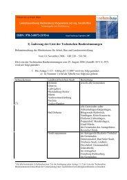 I) Änderung der Liste der Technischen Baubestimmungen ISBN ...