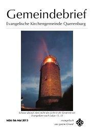 Gemeindebrief II-2013 der Ev. Kirchengemeinde Querenburg