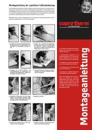 Montageanleitung - cuprotherm