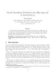 On the Cancellation Problem for the Affine Space A in characteristic p
