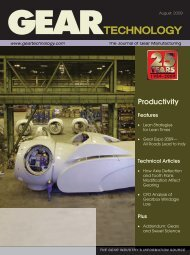 Download the August 2009 Issue in PDF format - Gear Technology ...