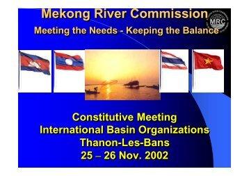 Mekong River Commission Mekong River Commission - INBO