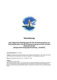 Gasgrundversorgungsverordnung GasGVV - Stadtwerke Bad ...