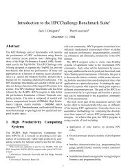 Introduction to the HPCChallenge Benchmark Suite - Innovative ...