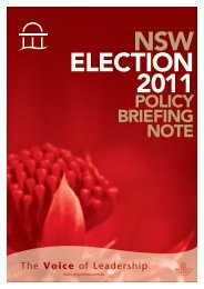 POLICY BRIEFING NOTE - Property Council of Australia