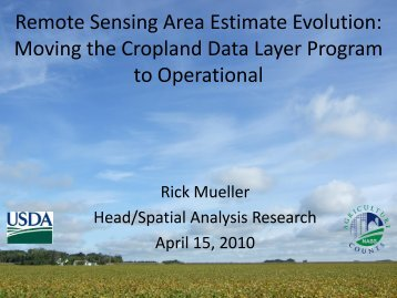 Crop Land Data Layer An Introduction - National Agricultural ...