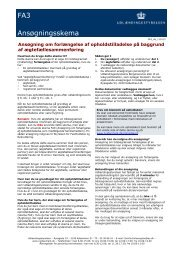 FA3 Ansøgningsskema - Ny i Danmark