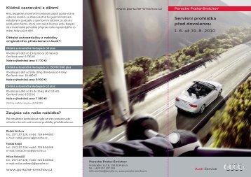 Servisní prohlídka před dovolenou 1. 6. až 31. 8. 2010 - Porsche . cz