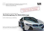 Antriebsregelung für Elektrofahrzeuge - EAL Lehrstuhl für ...
