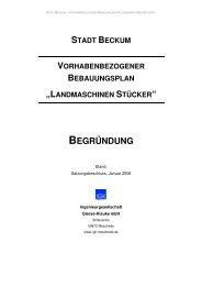 stadt beckum vorhabenbezogener bebauungsplan - O-sp.de
