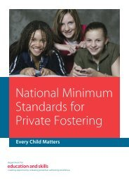 National Minimum Standards for Private Fostering - Torbay Council