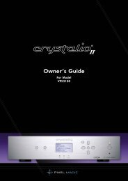 Crystalio II VPS3100 Owner's Guide - Pixel Magic Systems Ltd