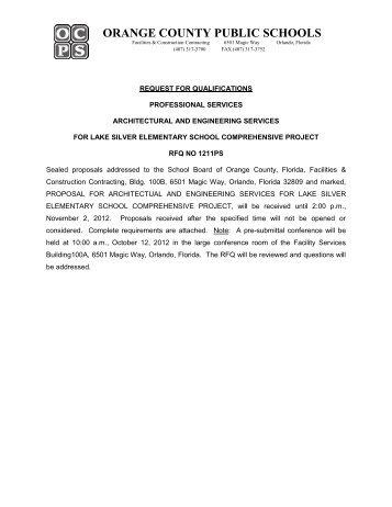 RFQ Document - Orange County Public Schools