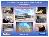 March 2009 - Pasadena Independent School District