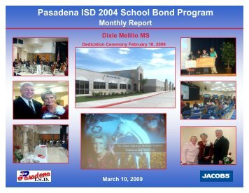 March 2009 - Pasadena Independent School District