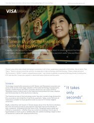 Taiwan stays on the leading edge with Visa ... - Visa Asia Pacific