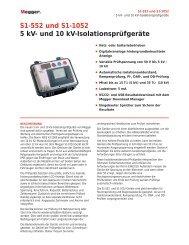 S1-552 und S1-1052 5 kV- und 10 kV-Isolationsprüfgeräte - States