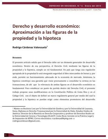 Derecho y desarrollo económico: Aproximación a las figuras ... - Ulacit