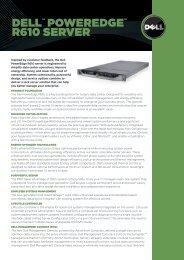PowerEdge R610 Specifications - Starnet Data Design, Inc