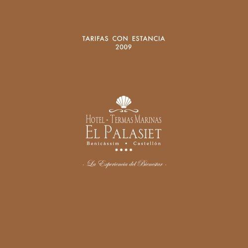 TARIF C ESTANC 09 SP - Termas Marinas El Palasiet