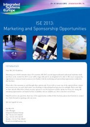 Marketing and Sponsorship Opportunities - Integrated Systems Europe