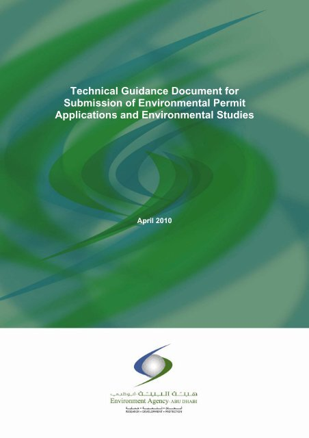 Technical Guidance Document for Submission of Environmental ...