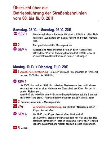 2011-10-08 Betriebsänderung Tram