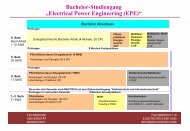 Präsentation des Bachelor/Master-Studiengangs EPE - Technische ...