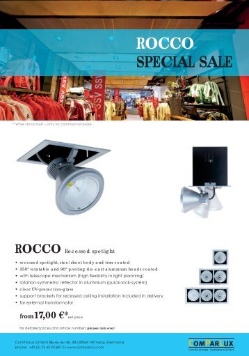 special sale Rocco - Comparlux Lighting Systems Gmbh