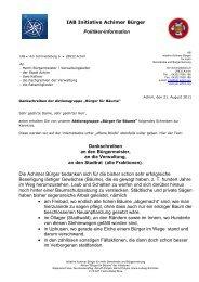 IAB Initiative Achimer Bürger Politiker-Information Dankschreiben an ...