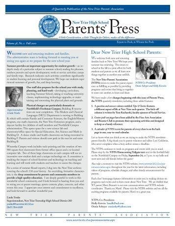 PARENTS PRESS FALL 2010 - New Trier Township High School