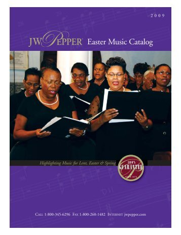 Easter Music Catalog - JW Pepper
