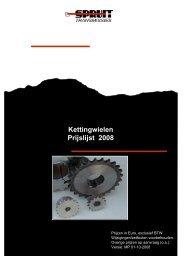 Kettingwielen - Spruit Transmissies BV