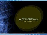 Marco Nacional de las Cualificaciones en España ... - OIT/Cinterfor