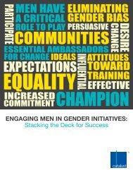 Engaging men in gender initiatives - XY online