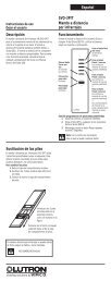 Español Descripción Funcionamiento Sustitución de las ... - Lutron