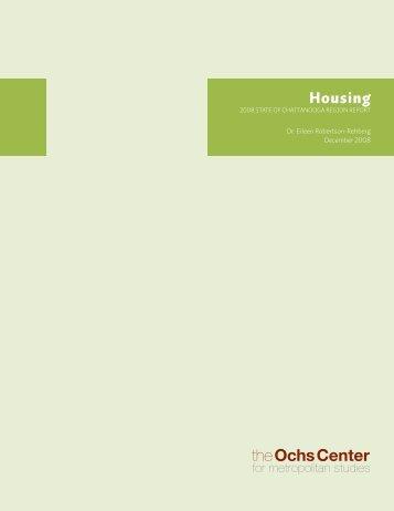 Housing - Ochs Center for Metropolitan Studies